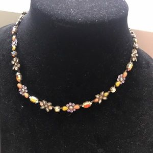 Sorrelli beautiful fall colored jeweled necklace